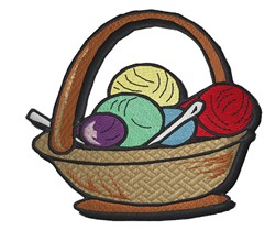 Basket Of Knitting embroidery design
