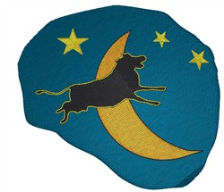 Over The Moon embroidery design