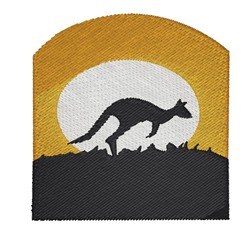 Kangaroo Scene embroidery design
