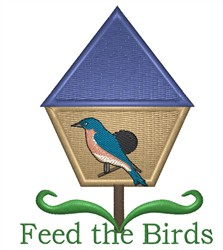 Feed The Birds embroidery design