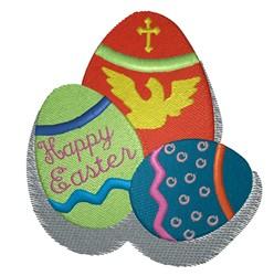 Colored Eggs embroidery design