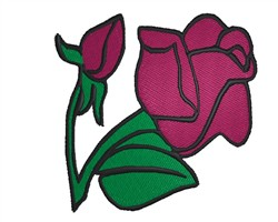 Red Rose embroidery design