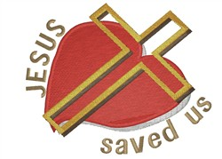 Jesus Saved Us embroidery design