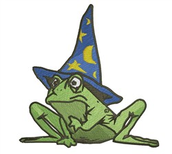 Frog Wizard embroidery design