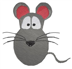 Mouse face embroidery design