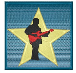 Rockstar Guitar Player embroidery design