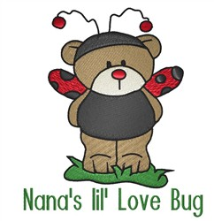 Nanas Ladybug Teddy embroidery design