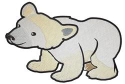 Baby Polar Bear embroidery design