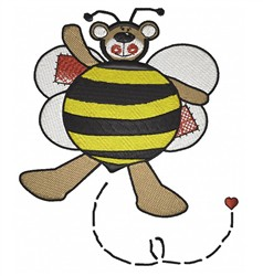 Bumblebee Teddy embroidery design