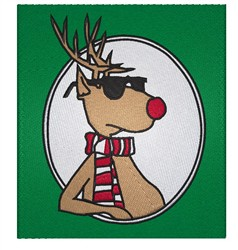 Cool Rudolph embroidery design
