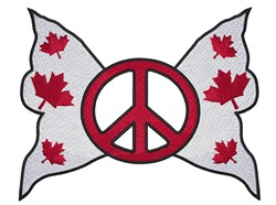 Canadian Flag Butterfly embroidery design