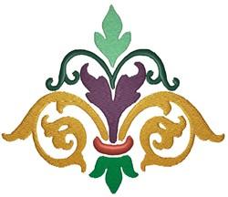 Multi-Colored Flourish embroidery design