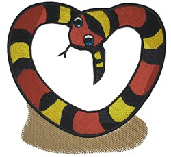 Snake Heart embroidery design