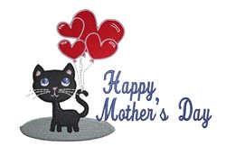 Mothers Day Kitty embroidery design