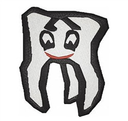 Cartoon Tooth embroidery design