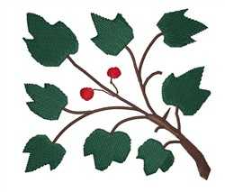 Berry Branch embroidery design
