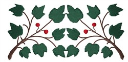 Berry Branch Border embroidery design