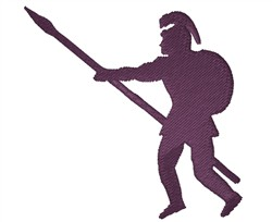 Roman Soldier Silhouette embroidery design