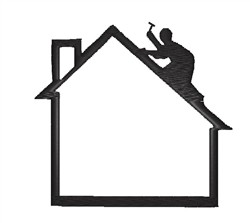 Roofer Silhouette embroidery design