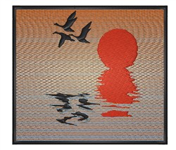Sunset Geese embroidery design