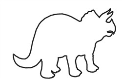 Triceratops Outline embroidery design
