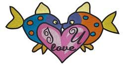 I Love U embroidery design