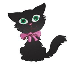 Black Kitten embroidery design