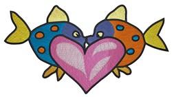 Fish In Love embroidery design