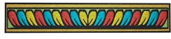 Colorful Border embroidery design