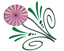 Striped Flower embroidery design