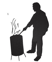 Barbeque Man embroidery design