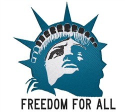 Freedom For All embroidery design