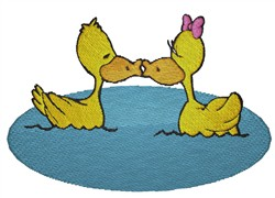 Ducks Kissing embroidery design
