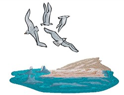 Seagulls embroidery design