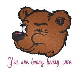Beary Cute embroidery design