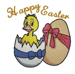 Easter Ducking embroidery design