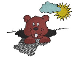 Groundhogs Day embroidery design