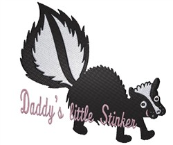 Daddys Little Stinker embroidery design