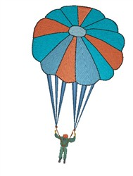 Parachuting embroidery design