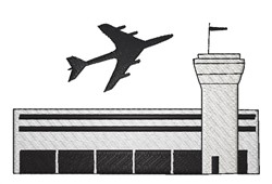 Airport embroidery design
