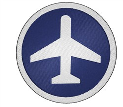 Airport Icon embroidery design
