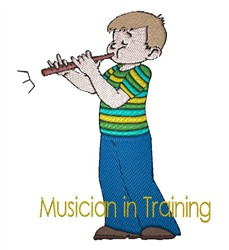 Musician in Training embroidery design