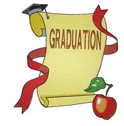 Graduation Diploma embroidery design