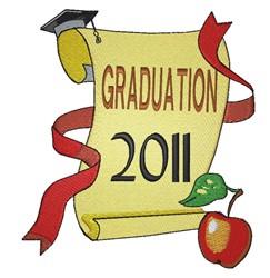 Graduation 2011 embroidery design