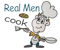Real Men Cook embroidery design