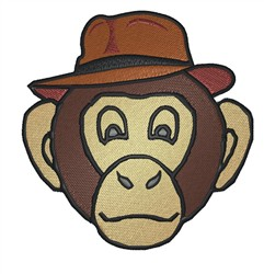 Ape With Hat embroidery design