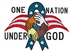 One Nation embroidery design