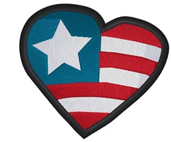 Patriotic Heart embroidery design