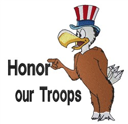 Honor Our Troops embroidery design