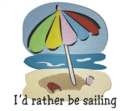 Rather Be Sailing embroidery design